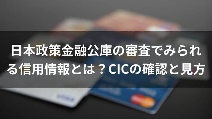 日本政策金融公庫の審査でみられる信用情報とは?CICの確認と見方
